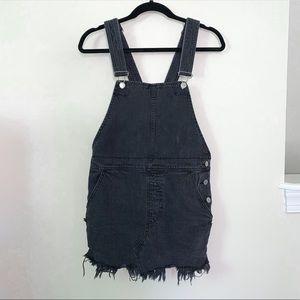 Free People Black Denim Overall Dress